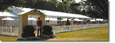 Wimbledon Hospitality entrance at Fairway Village