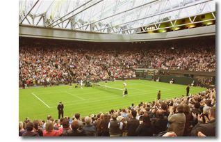 Centre Court's new retractable roof in operation for the first time in 2009