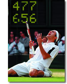 "Federer wins ""Championship Point"" on Centre Court"